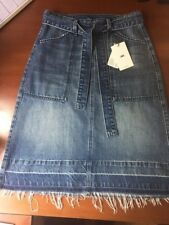 JAG Denim Drop Hem Skirt - Size 8