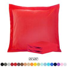 "Euro Pillow Sham Set Ultra Soft Pillowcase Set of 2 Square Pillow Covers 26""x26"""