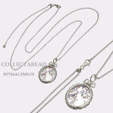 Authentic Pandora Sterling Silver Locket of Dazzle Necklace 397716ACZMX-70