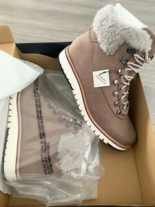 Cole Haan ZERØGRAND Explore Hiker Boot Twilight Mauve-Dove Shearling Size 8C