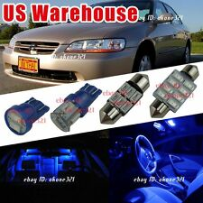 11x Pure Blue Interior Package LED Light inside Kit For 98-02 Honda Accord
