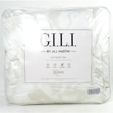 G.I.L.I. by Jill Martin Velvet Marble Print Comforter Set Natural - New