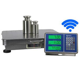 Paketwaage 300kg//10g Plattformwaage,Edelstahl Plattform Waage mit Externem Display und Enormer W/ägeleistung