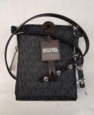 NWT WOMEN'S MICHAEL KORS MK LOGO FANNY PACK BLACK STY#552500 SZ:S-XL $98