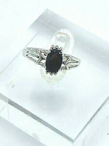 Sterling Silver Blue Sapphire Cocktail Ring Size 6