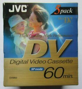 JVC - DV - Digital Video Cassette - 60 min - 5 Pack - New & Sealed