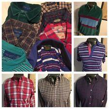 Lot of 7 vtg Towncraft Men shirts sz L plaid button polo velour jumper soft thin