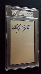 Kirbe Higbe Auto Cubs Brooklyn Dodgers PSA DNA Slabbed 3x5 index Autograph