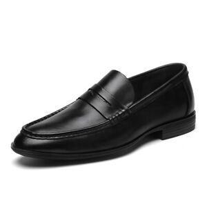 Mens Loafers Flats Shoes Faux Leather Slip On New Causal Shoes Work Fashion