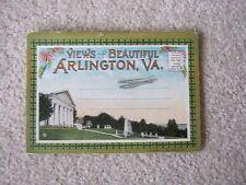 Vintage Antique ~ VIEWS OF BEAUTIFUL ARLINGTON, VA ~ Post Card Booklet