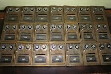 Lot of 21 vintage bronze Post Office mail box doors Corbin with slot