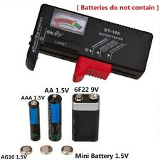 More details for lcd universal battery tester tool aa aaa c d 9v button cell volt tester checker!