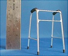 Doll miniature handcrafted Medical walker metal 1/12th scale