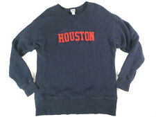 Ebbets Field Flannels Houston Buffaloes Sweatshirt sz L LARGE Navy Blue Baseball