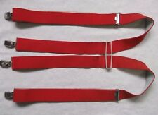 Braces Suspenders Mens Vintage CLIP ON 1980s STOCKBROKER RED