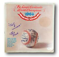Jack Buck Signed Album 1964 Cardinals World Champions Autographed PSA/DNA