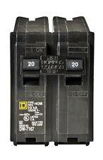 Square D  HomeLine  Double Pole  20 amps Circuit Breaker