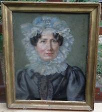 Portrait de Femme époque Charles X H/T Ecole romantique française