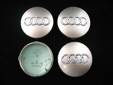 4x 60mm GREY AUDI ALLOY WHEEL CENTRE HUB CAPS, TT A1 A2 A3 A5 A4 A6 A8 S-Line