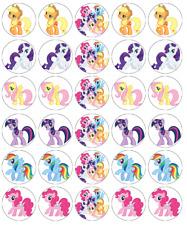 My Little Pony x 30 decorazioni per cupcake wafer commestibile Carta Fata Cake Topper