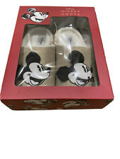 Disney Mickey Mouse Slippers In Christmas Gift Box Medium UK 5/6 Gold Beige