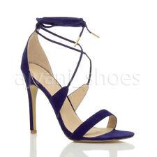 Sandali e scarpe blu formale con cinturino per il mare da donna