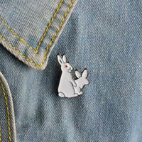 Crazy Bunny Brooch Insane Rabbit Pin Enamel Metal Buckle Badge Stud Sexy Do Love
