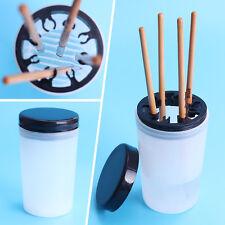 Nail Art Brush Cleaner Holder UV Acrylic Gel Pen Pot Cleanser Cup Bottle Tool