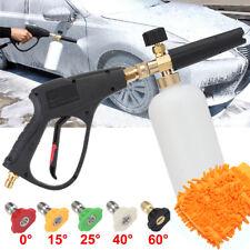 Pressure Washer Water Jet Gun Nozzle Tip Soap Foam Lance Gloves Car Wash Cleaner