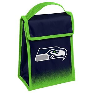 """Seattle Seahawks Insulated Lunch Bag Box Cooler Gradient Logo 9"""" x 7"""" x 4.5"""""""