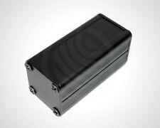 Mini-Gehäuse Aluminium schwarz, 50 x 25 x 25 mm Leergehäuse Metall