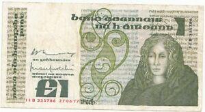 Irlande Billet de banque 1 Livre 27.06.77