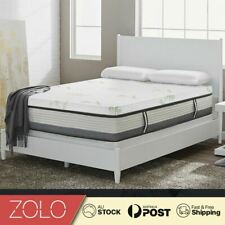 Single Bed Memory Foam Mattress Topper W/ Bamboo Cover Underlay 4cm Foldable