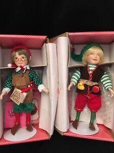 2 Treasury  Collection Christmas Elf Dolls Premier Edition