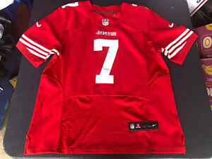 Nike Colin kaepernick #7 49ers Red jersey SZ 40
