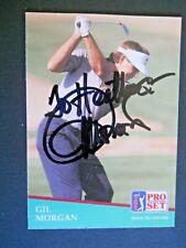 Gil Morgan - 1991 Proset Autographed PGA Golf card # 80 - Tour card