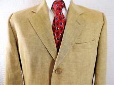 Daniel Hechter 100% Leinen 'Flawless' Gold Jacke Blazer Made in Gb 40 Eu 50 Reg