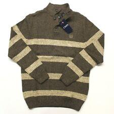 Men's Chaps Twist Mockneck Sweater (63610) - Brown Walnut Twist - S