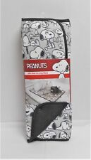 "Peanuts Snoopy 2 Pack Kitchen Black, Grey & White Dish Drying Mat 16"" x 18"""