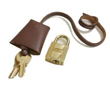 Authentic HERMES Clochette Cadena padlock  Palladium #1681