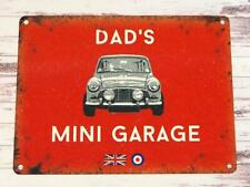 Red Dads Mini Garage Tin Sign Austin BMC Cooper Classic Car Gift