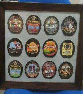 12 Framed Real Ale Labels
