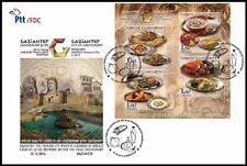 TURKEY 2016, GAZİANTEP,  UNESCO, CREATIVE CITIES, GASTRONOMY, FDC