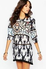 Cotton Blend Dry-clean Only Casual Multi-Colored Dresses for Women