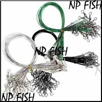 Lure Coated Leader Stainless Wire Trace Pike Sea Fishing 15/20/30 CM
