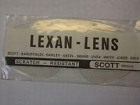 Scott R Ersatzglas,  Lexan klar , MX, Enduro, Cross,  Vintage, Classic, Quad