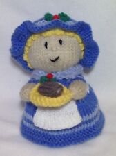KNITTING PATTERN - Christmas Miss Nibbles chocolate orange cover or 15 cms toy