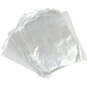 "100 CLEAR PLASTIC POLYTHENE BAGS 10x15"" 120 GAUGE"