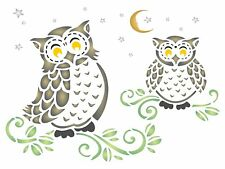 Owls Stencil Reusable Wall Stencils for Painting Best Quality Floor Furniture