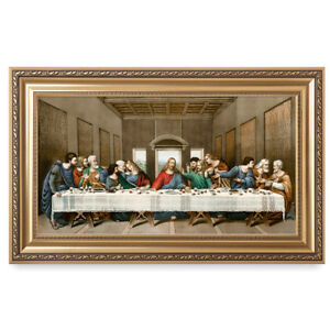 DecorArts-The Last Supper, Reproduction.Giclee Print Living Room Framed Wall Art